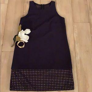 LOFT woman's dress navy blue LIKE NEW!